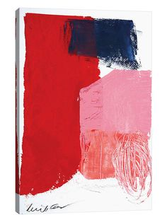Red Black And Pink by Heather Chontos (Canvas) by iCanvas at Gilt