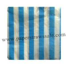 Paper Napkins Print Blue Stripe  http://www.paperstrawssale.com/paper-napkins-print-blue-stripe-300pcs-p-771.html