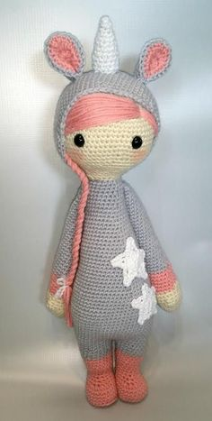 lalylala unicorn mod made by red fox stitches / based on a lalylala crochet pattern