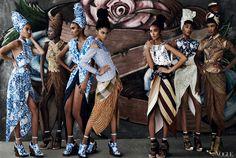 Joan Smalls, Arlenis Sosa, Chanel Iman, Anais Mali, Jourdan Dunn, and Sessilee Lopez