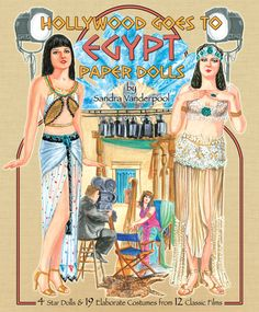 Hollywood goes to Egypt paper doll
