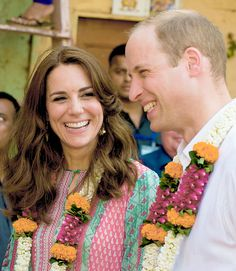 The Duke and Duchess of Cambridge visit the historic Banganga water tank in Mumbai on April 10, 2016