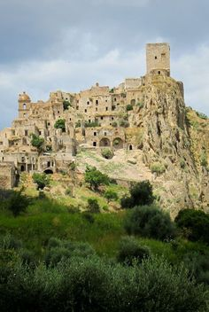 Visiting Craco a ghost town in Basilicata, Italy.