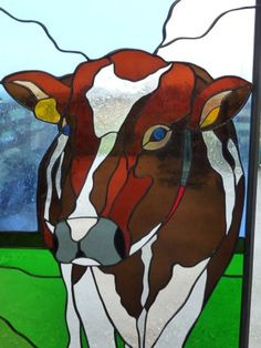 stained glass cow!