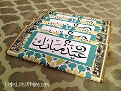 custom wrapped eid chocolate bars