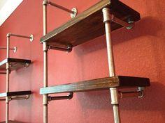 Industrial Envy Pair Of Bookshelves Industrial Wall Shelves Designs Ideas