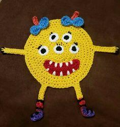 Aplique 3: Série Monstros em crochet