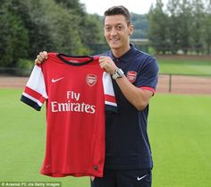Mesut Ozil became the third-most expensive player in British football history in 2013