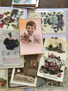 Excited to share this item from my #etsy shop: 18 Vintage Postcards, English Postcards, French/Belgium Postcards , Assorted Dates, Vintage Ephemera,, Vintage Ephemera, Vintage Cards, Vintage Postcards, French Flowers, Vintage Flowers, Christmas Greeting Cards, Christmas Greetings, Mixed Media Cards, Flower Seeds