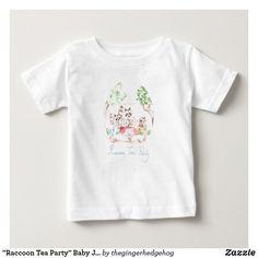 """Raccoon Tea Party"" Baby Jersey T-shirt"