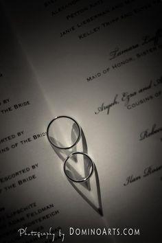 I like the heart shape to the shadow on the wedding program.