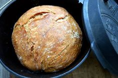 Crusty bread from the Dutch Oven - bacon to the steak - With this recipe you wi. - Crusty bread from the Dutch Oven – bacon to the steak – With this recipe you will conjure up a - Bacon Recipes For Dinner, Pork Recipes, Appetizer Recipes, Bread Recipes, Asparagus In Oven, Fun Cooking, Cooking Recipes, Cooking Pasta, Cooking Oil