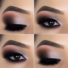 10 Augen Make-up Tipps von Jaqueline Vandoski - EYE Make-up ., makeup tutorial 10 Augen Make-up Tipps von Jaqueline Vandoski - EYE Make-up . Dramatic Eye Makeup, Eye Makeup Art, Dramatic Eyes, Natural Eye Makeup, Eye Makeup Tips, Makeup For Brown Eyes, Makeup Hacks, Makeup Tools, Eyeshadow Makeup