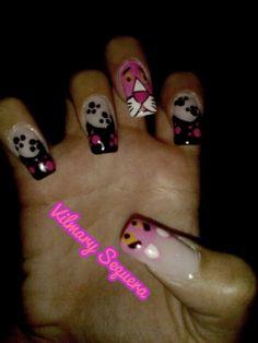 Pantera Rosa Nails, Beauty, Finger Nails, Beleza, Ongles, Nail, Nail Manicure