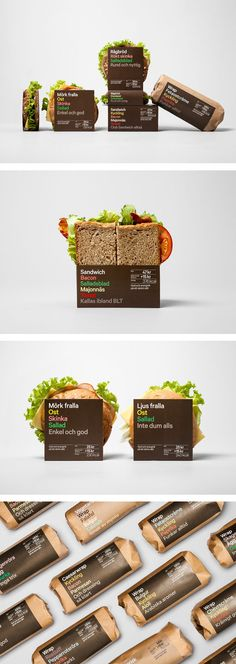 These sandwiches must be good because someone took the time to design a label   7-Eleven and Press­byrån (Sweden) Enhance their Fast Food Range | By BVD