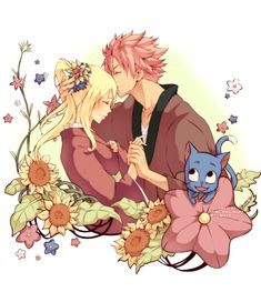 Happy and Mira should set up Natsu and Lucy!!!
