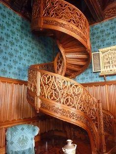 Staircase in castle. Prague Czech Republic