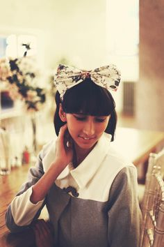 Autumn Floral Bow Headband, Vintage Floral Headband, Dolly Bow Headband, Floral Hair Accessory by beauxoxo on Etsy