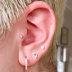 added a photo of their purchase Tragus Piercings, Lip Piercing, Cartilage Earrings, Diamond Flower, Crystal Flower, Nose Bones, Gold Nose Rings, Nose Stud, Labret