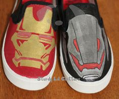 6285b04668fa Items similar to IRON MAN shoes - ULTRON shoes - Custom Painted shoes -  Kids Shoes - Size 3 - Christmas Present - Superheroes - villains - Marvel  Comics on ...