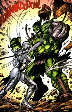 Hulk and Caiera the Oldstrong by Jose Ladrönn | HULK & Co