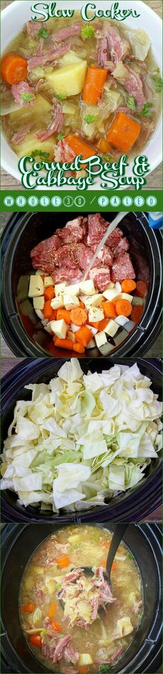 This healthy version of corned beef and cabbage soup is not only whole30 and paleo compliant but cooks in just a few hours time.