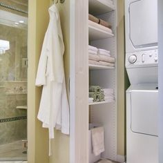 Washer Dryer In Closet Design Ideas, Pictures, Remodel and Decor