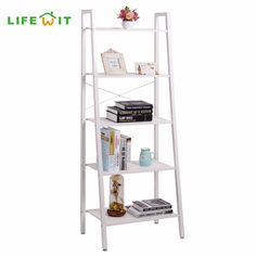 US$59.39  Feb only. Lifewit 5 tier Shelves Ladder Bookcase Storage and Display Standing Shelving Unit for Bedroom Kitchen Gaarage Holders Racks -- Find similar beautiful pieces on  AliExpress.com. Just click the image. #HomeFurniture