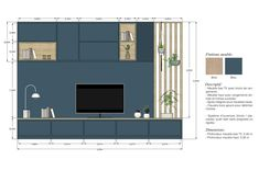 Interior Architecture Drawing, Interior Design Renderings, Interior Design Boards, Architecture Details, Furniture Design, Tv Wall Design, House Design, Tamizo Architects, Interior Design Presentation