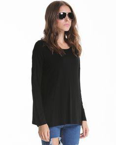 Black Long Sleeve Basic Casual T-shirt