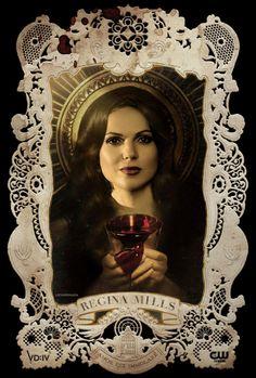 Regina Mills, The Vampire Diaries style.