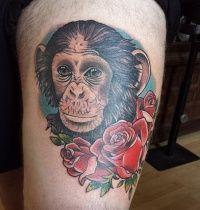Monkey tattoos photos - Tattoo.pm