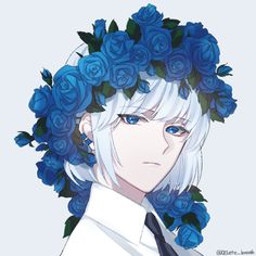 boy, art and anime image on We Heart It Anime Plus, 5 Anime, Hot Anime Boy, Cute Anime Guys, Anime Art, Blue Drawings, Otaku, Anime Lindo, Anime Kunst