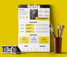 50 Free Resume Templates: Best Of 2018 - 35 Simple Resume Template, Resume Design Template, Creative Resume Templates, Cv Templates Free Download, Infographic Resume, Graphic Design Resume, Creative Cv, Free Resume, Resume Cv