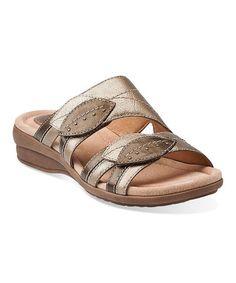 Look what I found on #zulily! Platinum Reid Pointe Leather Sandal #zulilyfinds