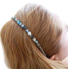 en.dawanda.com Alice Bands – Hair band with beads – a unique product by FashionCorner on DaWanda