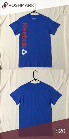 Blue Reebok T-Shirt Size: S. 100% cotton Reebok Tops Tees - Short Sleeve