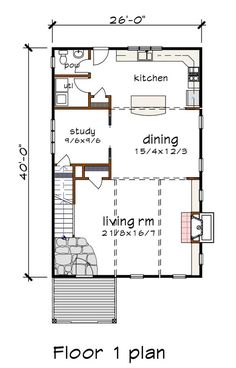 Contemporary Style House Plan - 3 Beds 2.5 Baths 2007 Sq/Ft Plan #79-316 - Houseplans.com Contemporary Style Homes, Contemporary Design, Kitchen Cabinets Elevation, Sims House Plans, Electrical Plan, Building Section, Building Department, Roof Plan, Bonus Rooms
