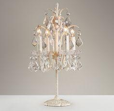 Candelabra Table Lamp Ivory