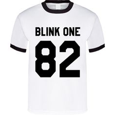 Blink One 82 Fun Graphic Band Tee Shirt (£13) ❤ liked on Polyvore featuring tops, t-shirts, white tee, white shirt, t shirts, graphic print tees and graphic design shirts