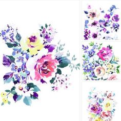 A selection of prints and blank cards now available from The Makers at Narberth Gallery. #print #paint #flowers