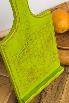 Lime Green Vintage Wooden Cutting Board Ipad 5 4 3 2 1 Stand Rustic Reclaimed…
