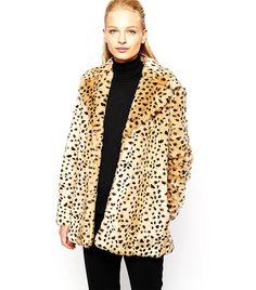Leopard Faux Fur Coat via @WhoWhatWear