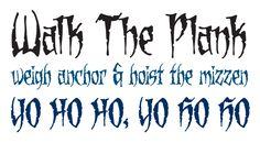 Dead Mans OT published by Comicraft. #fonts #fontshop #pirate