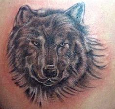 Collections Of Tattoo Art: Wolf And Bear Tattoo 3D Cool