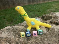 SALE: PLush Toy Dinosaur -  Babysaurus- a Dandy Dinosaur Baby - Amigurumi Animal…
