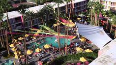 Aerial video of Splash House, Palms Springs | Saguaro Palm Springs