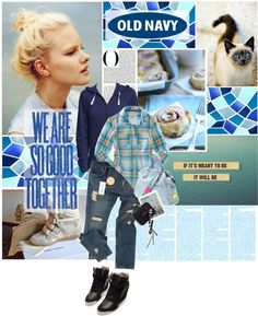 """""""Old Navy"""" by retrocat1 ❤ liked on Polyvore"""