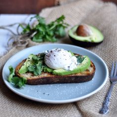 Avocado on Toast with Poached Egg, my kind of breakfast!