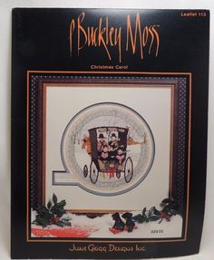 P Buckley Moss Christmas Carol Pattern Chart 113 Buggy Winter Amish OOP #JuneGriggDesigns #Frame